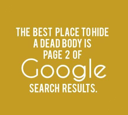 Best Place To Hide a Dead Body is page 2 og Google search results