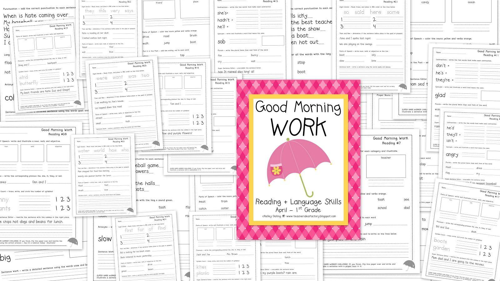 Free April Good Morning Work (Reading)
