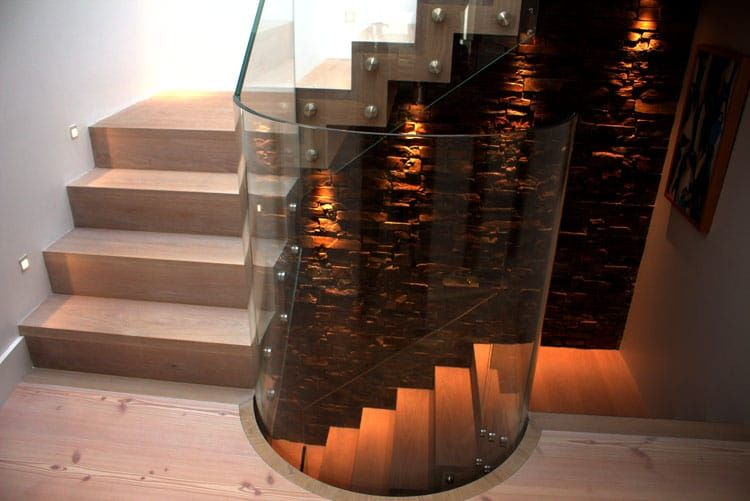 Best Curved Glass Timber Stairs Timber Stair Glass Stairs 640 x 480