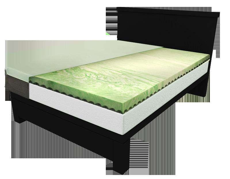 bios full body relief gel infused memory foam mattress. Black Bedroom Furniture Sets. Home Design Ideas
