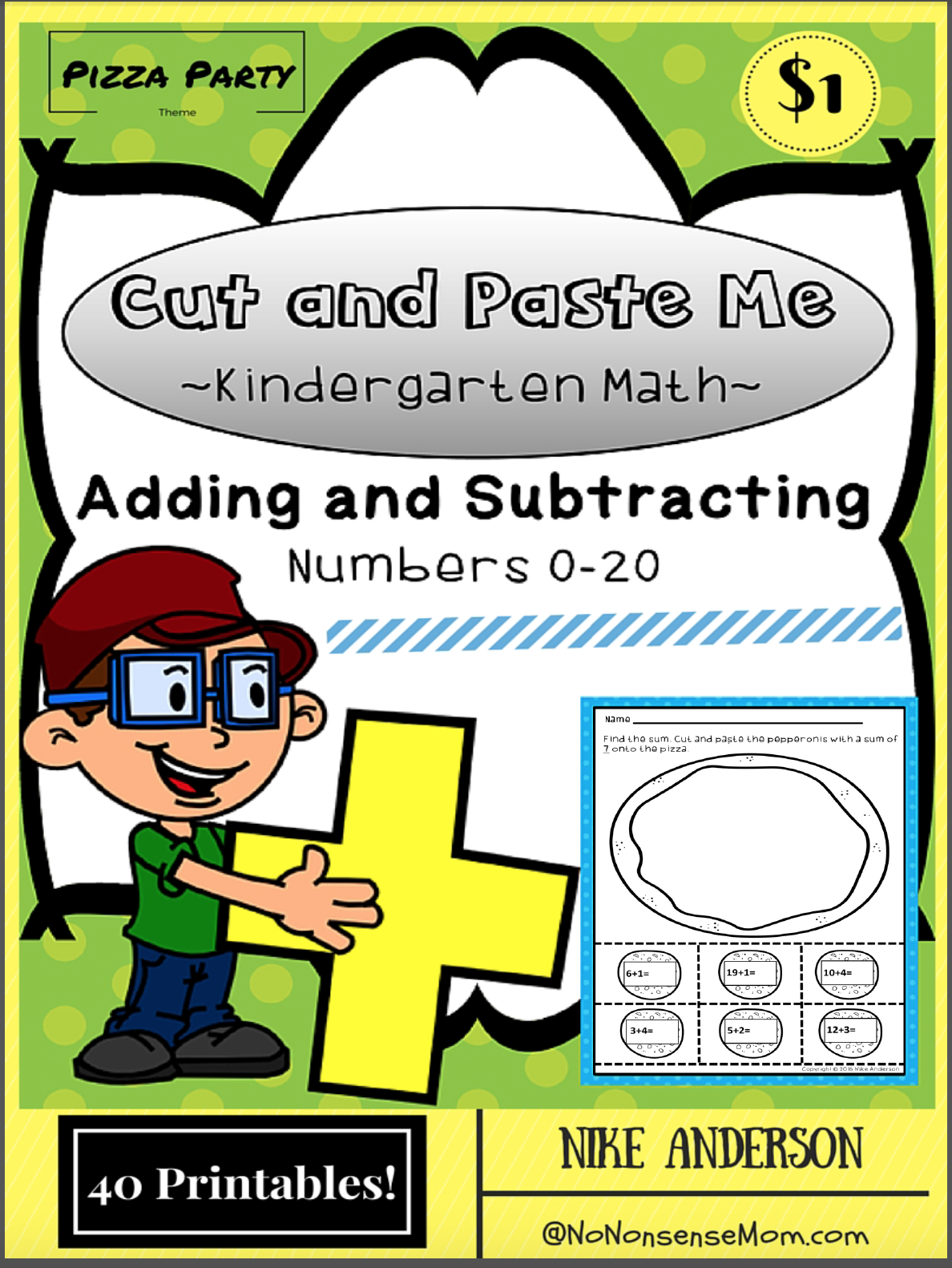 Addition And Subtraction Printables For Kindergarten