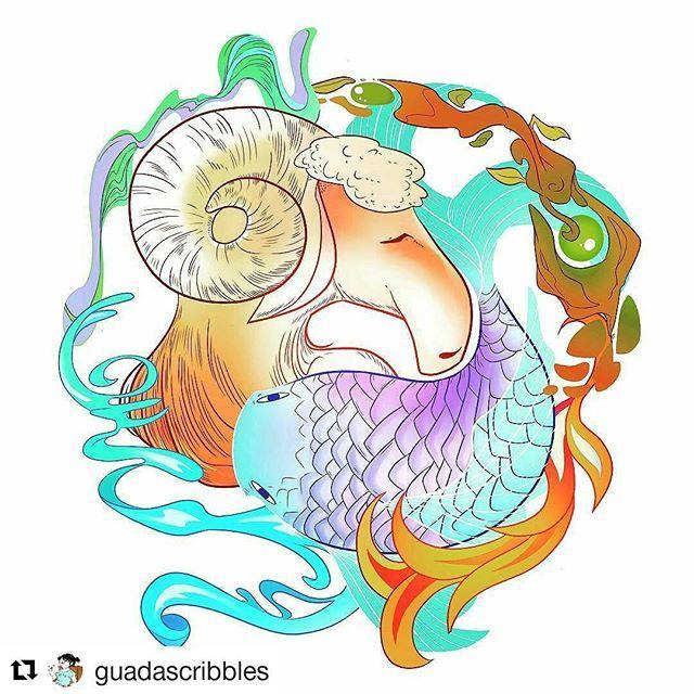 Adoro cuando los artistas se inspiran en la #astrología   @guadascribbles me…