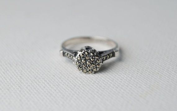Marcasite Ring Www Etsy Au Listing 259367474 Vintage Sterling Silver