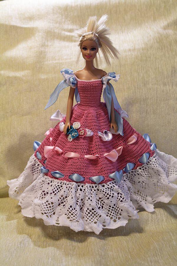 Вязаное крючком платье для куклы Барби Принцесса | Одежда ...