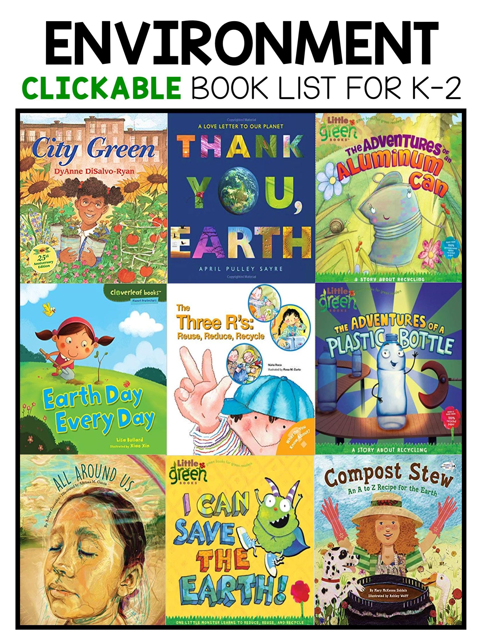 Best Earth Day And Environemental Picture Books For