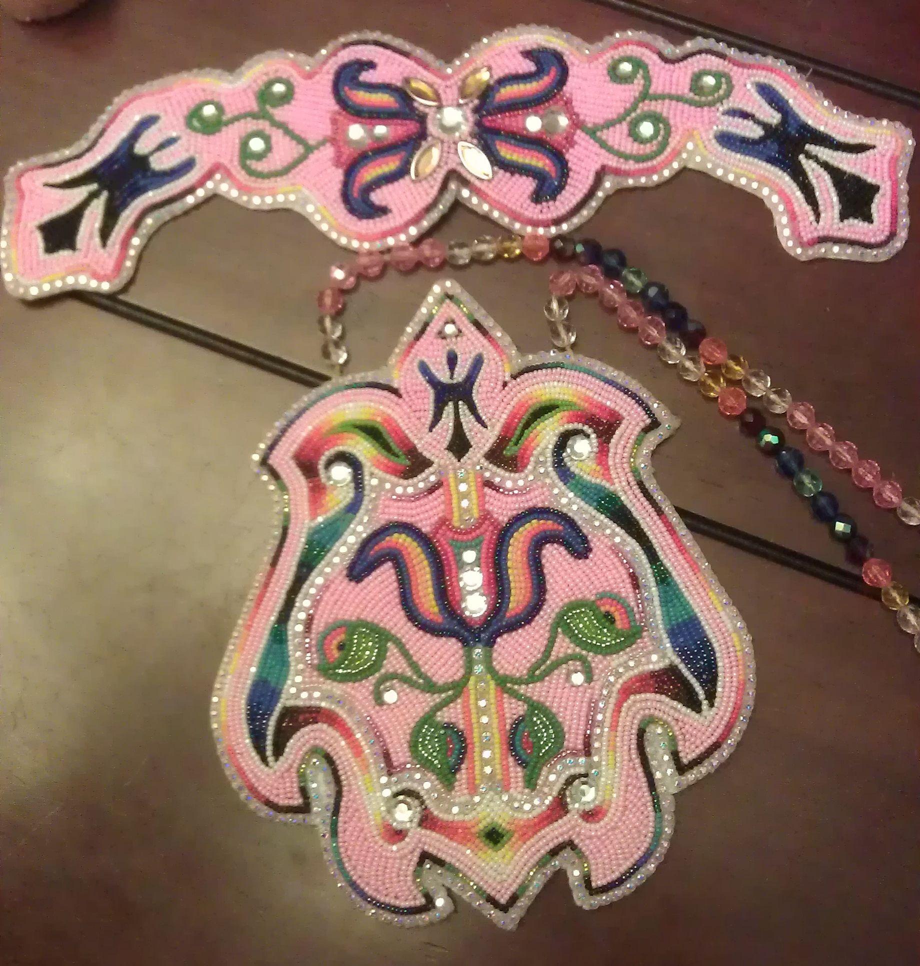 Pink Women S Beadwork Set In Progress Www Shawneedesignz