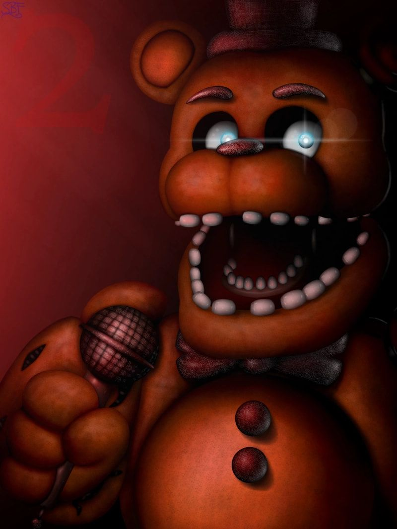 The drawing of Withered Freddy is finally done! :3 #Fnaf2