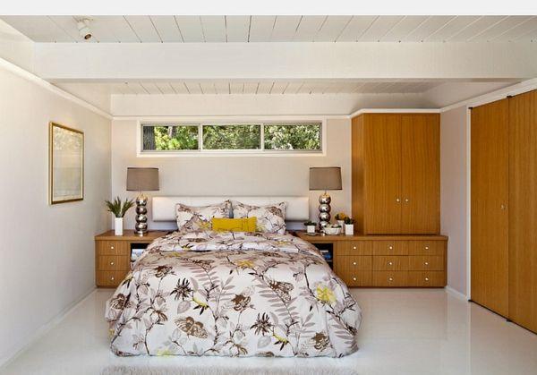 Einrichten Blumenmuster Schlafzimmer Keller Bettwäsche Kleiderschrank