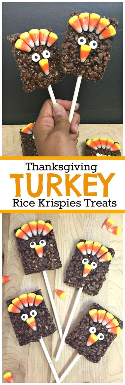 Gobble Gobble: Let's Make Thanksgiving Rice Krispies Treat Turkey Pops!