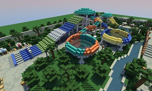 Caribbean Cove Water Park Minecraft Map With Images