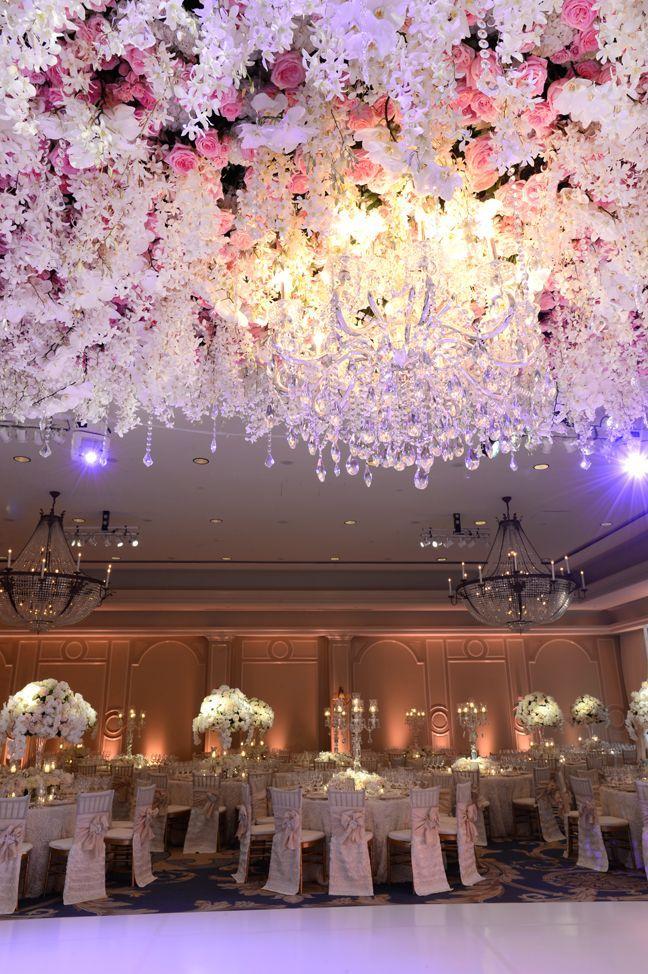 Grande Floral Ceiling Dream Wedding Extravagant | wedding ...