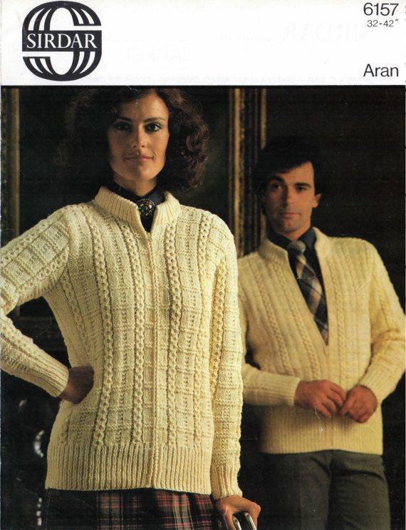 Adults aran bomber jacket knitting pattern sirdar 6157 womens adults aran bomber jacket knitting pattern sirdar 6157 womens knitting patterns mens knitting dt1010fo