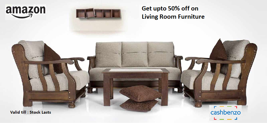 Amazon India Offer Get Upto 50 Off On Living Room Furniture Valid Till Stock Lasts Htt House Furniture Design Furniture Design Wooden Wooden Sofa Set