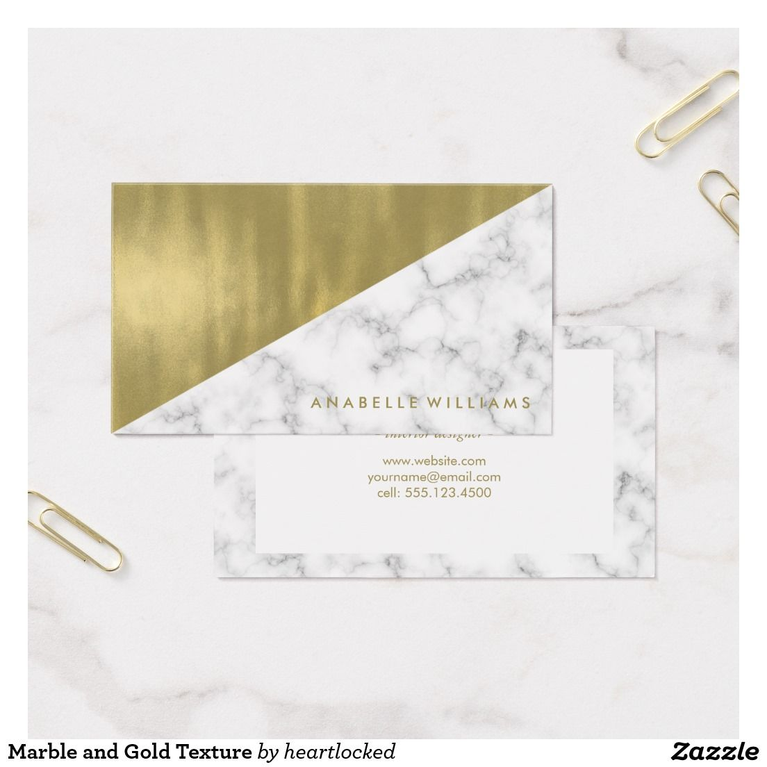Marble and Gold Texture Business Card   Business cards and Business