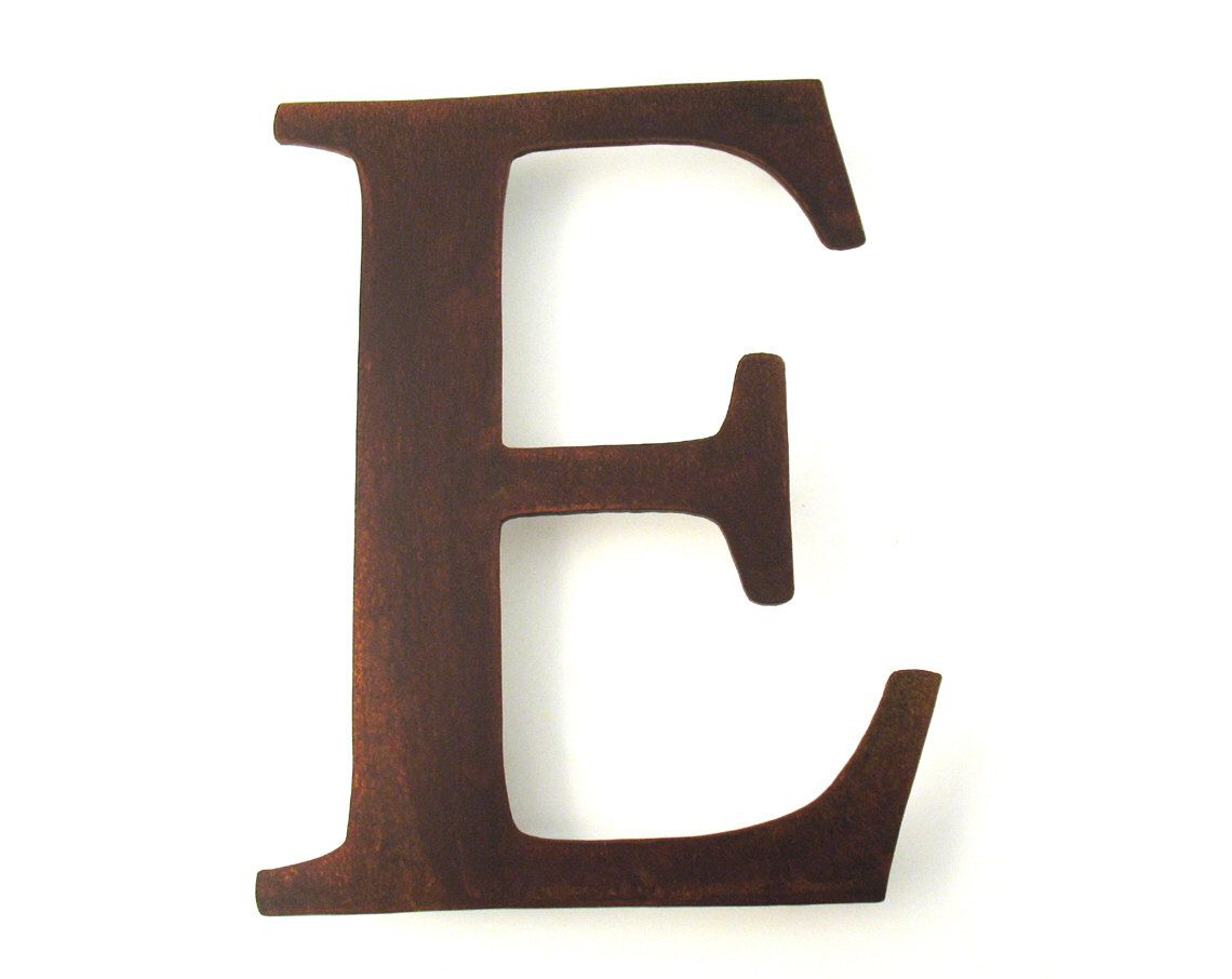 Industrial Letters Wall Hanging Metal Letter E Sign  Rustic Metal Letter  Metal Wall Letter