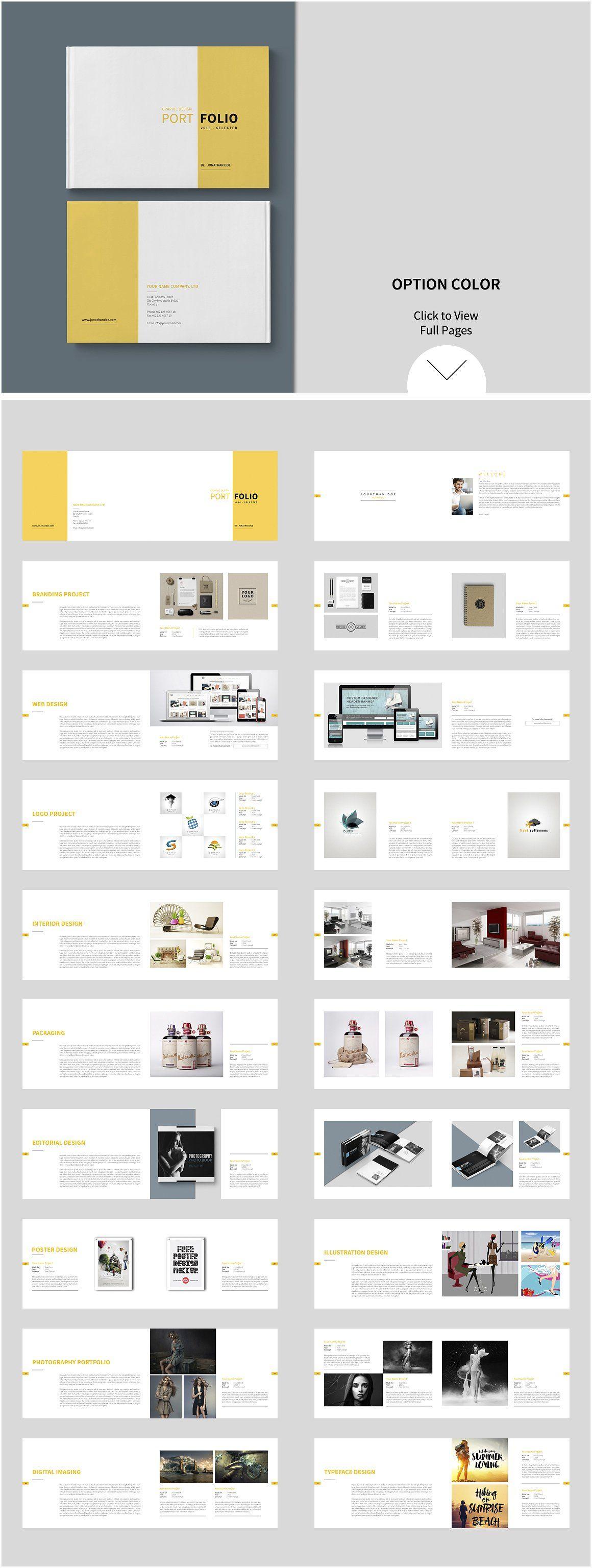 Graphic Design Portfolio Template By Tujuhbenua On Creativemarket Portfolio Design Layout Portfolio Template Design Portfolio Design