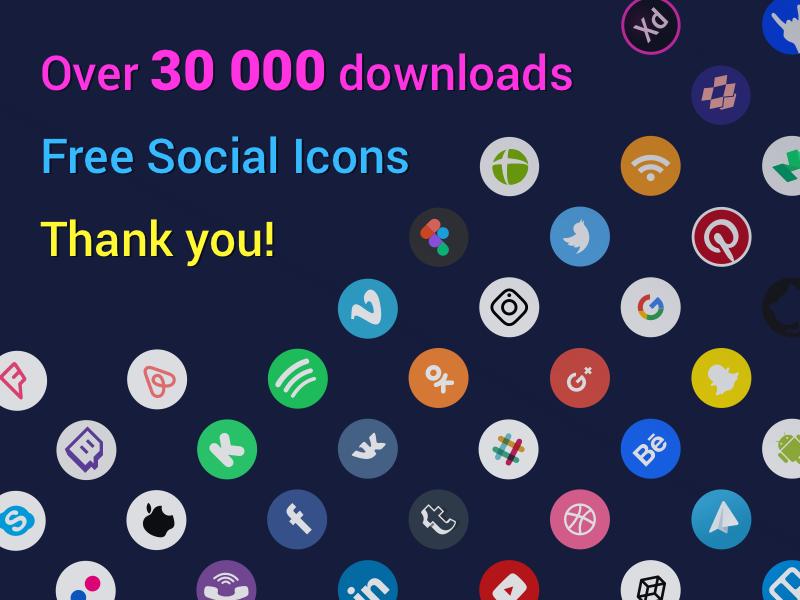Social Icons 30 000 downloads Social icons, Social media