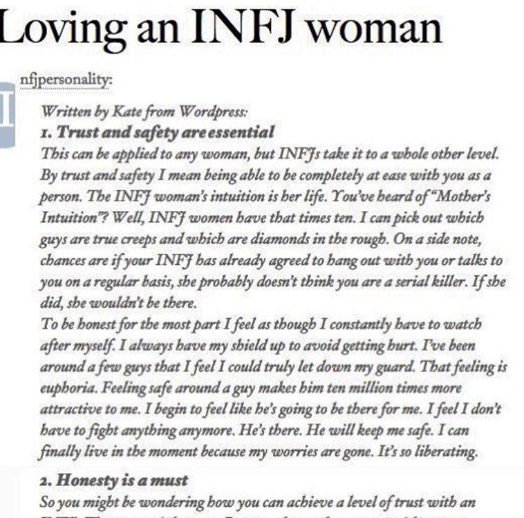 Loving an INFJ woman 1/3 Worthy Gentlemen take note