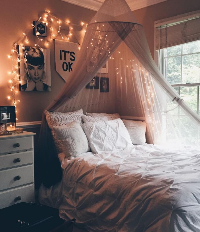8 DIY Canopies Perfect For Your Dorm  Diy canopy, Bed  ~ 062429_Dorm Room Canopy Ideas