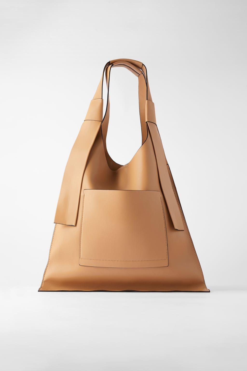 Flat Shopper Bag With Outer Pocket Shopper Bag Tote Bag