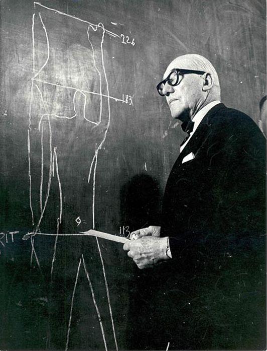 ;-) __Le Courbusier explaining the modulor