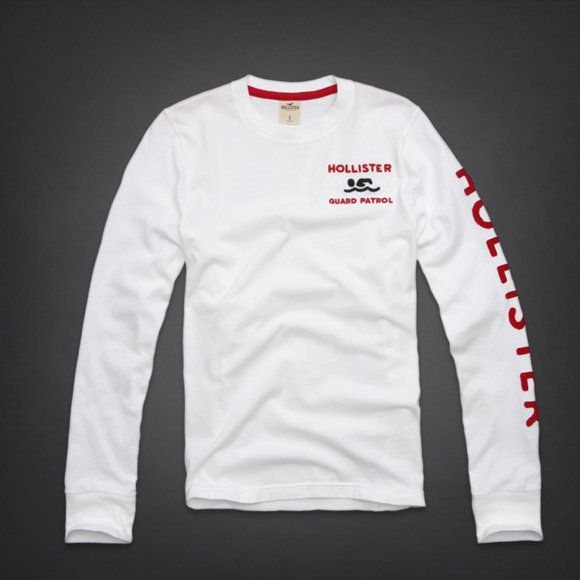 BNWT Hollister Mens Long Sleeve T-Shirt Tee Top All Colours   Sizes ... 2ae2e8a39c16e