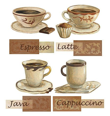 Kitchen Decor Themes Coffee coffee decals for a kitchen #coffee-themed-kitchen-decor | coffee