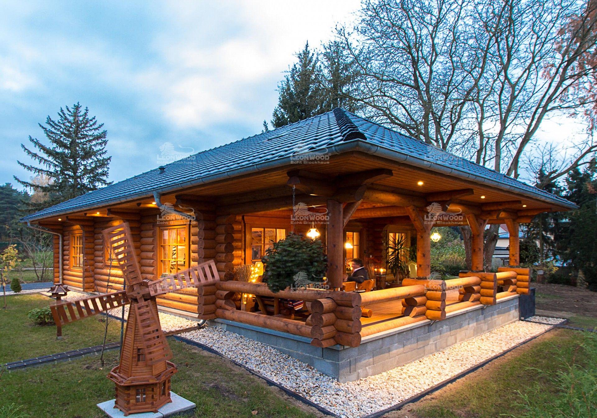 Blockhaus Elch Hinten Garten Log Homes Cabin Und Cottage