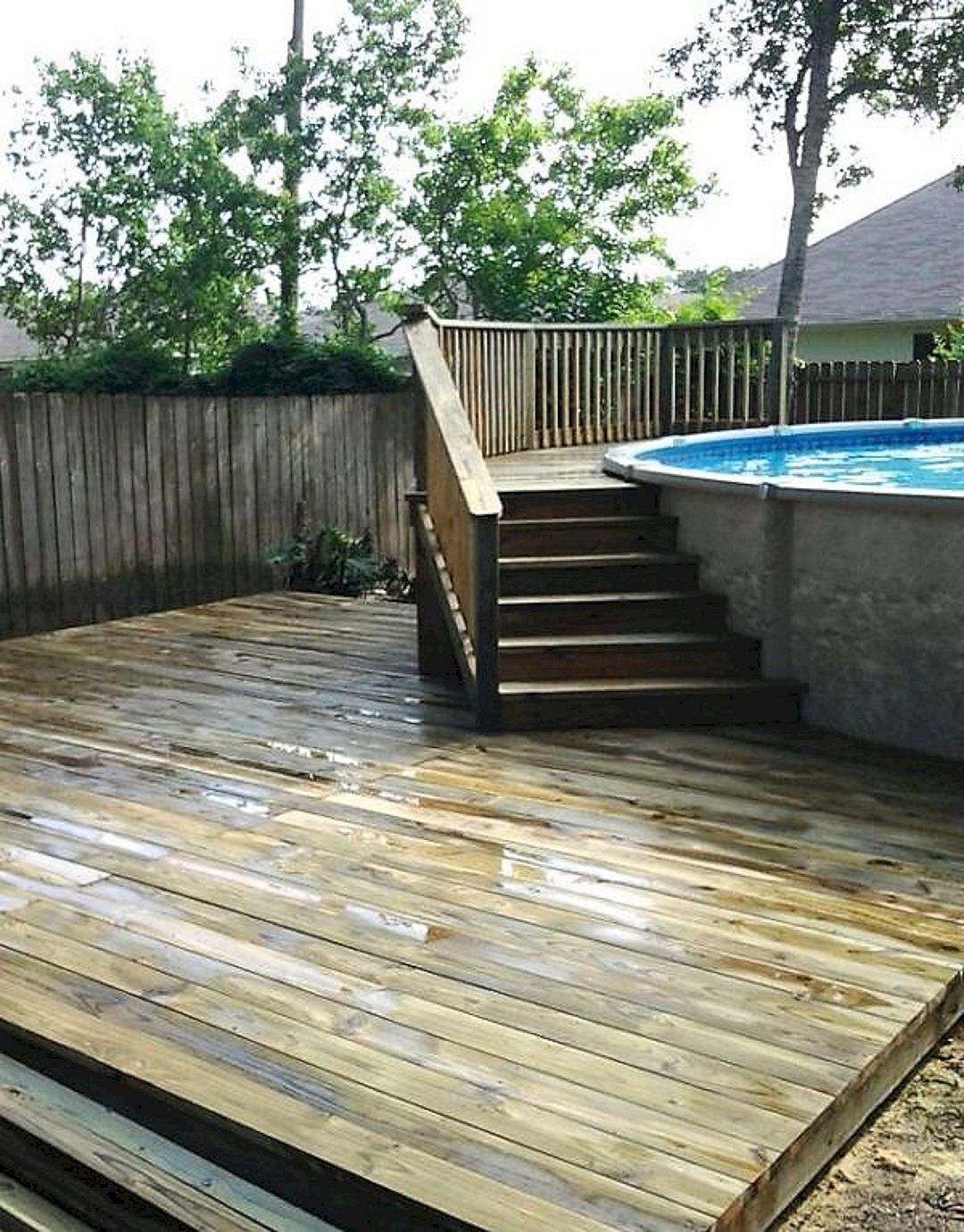 Top 81 diy above ground pool ideas on a budget read - Above ground pool deck ideas on a budget ...