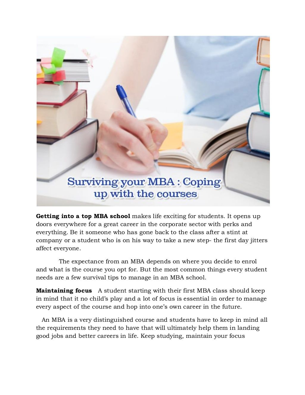 Survive Your Mba For The Right Career Boost 2014 2015 School Essay Writing Tips Bilingualism