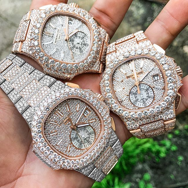 Patek Trio The Only Bustdown Collection You Want To Have Rate This Bustdown Collection 1 10