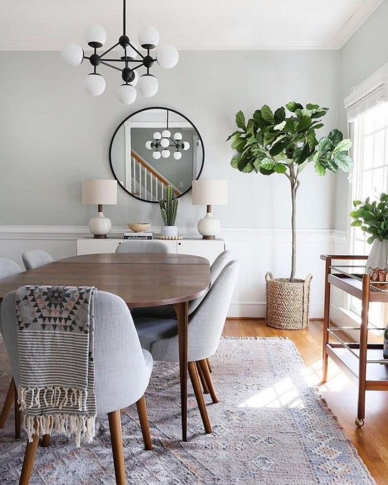 48 Beautiful And Affordable Dining Room Decoration Ideas Diningroom Decoration Affordable Dining Room Contemporary Decor Living Room Farmhouse Dining Room