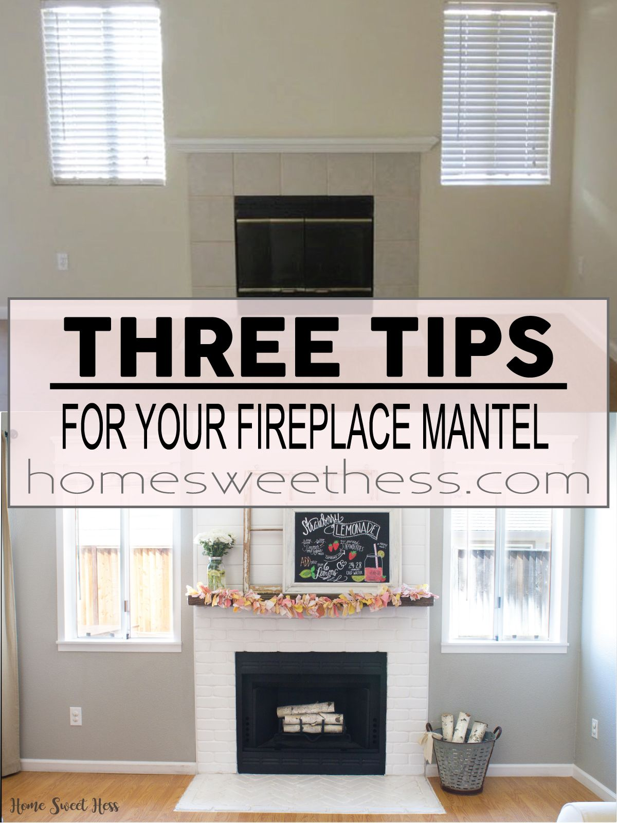 Three simple tips for decorating your fireplace mantel decorating