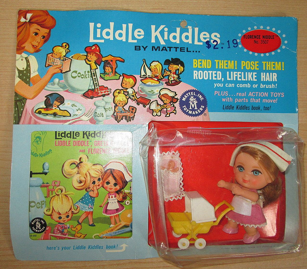 Featuring Vintage Liddle Kiddles from 1967 Pack of 12 LIDDLE KIDDLES KARDS