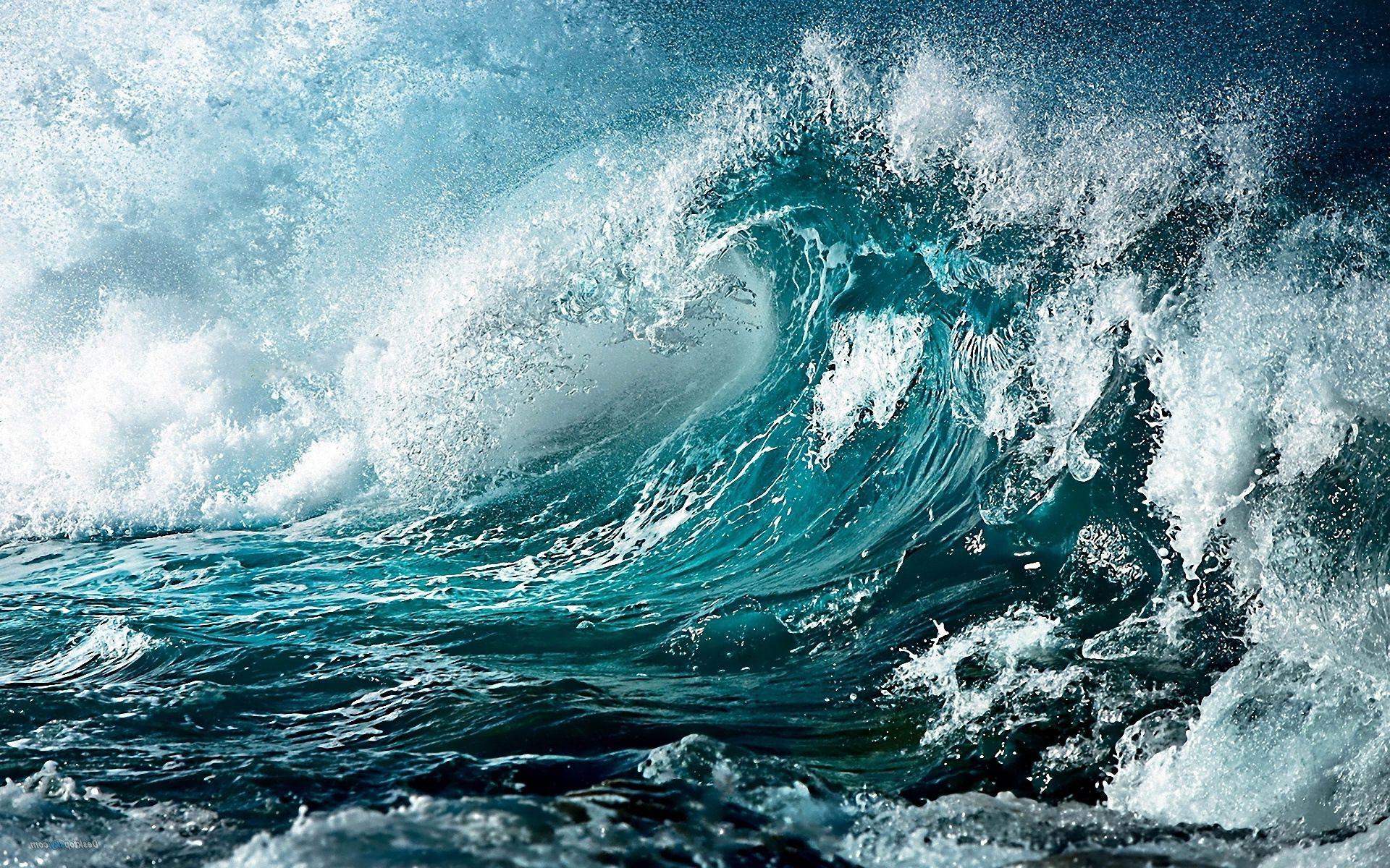 Wave Wallpaper High Resolution Big blue waves ...