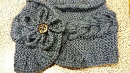 Fancy knit neck warmer, so much fun to knit.