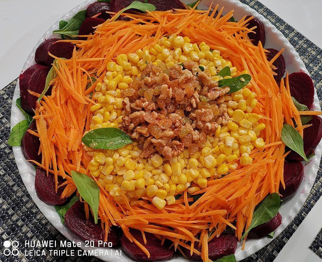 سلطة الشمندر رالذرة بصلصة المستر Food Salad Rice