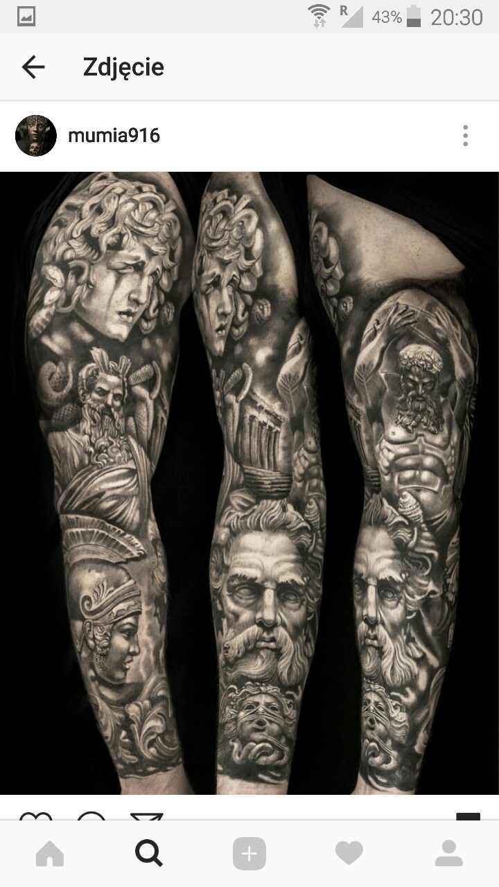 Greek Mythology Hercules Poseidon Hades Perseus Tatuaż