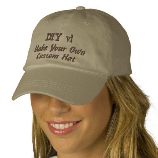 DIY Design Your Own Custom Baseball Hat V01A  23960e43f671