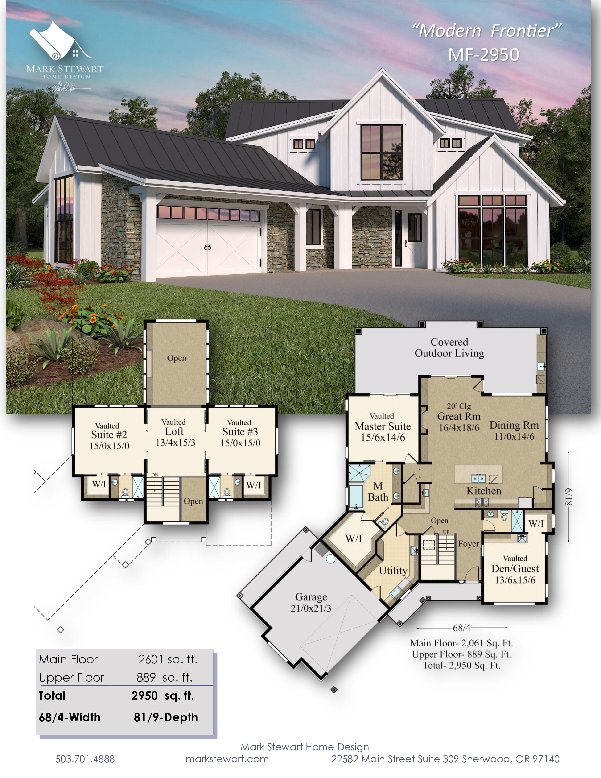 Modern Frontier Dream House Plans House Layout Plans Modern Farmhouse Plans