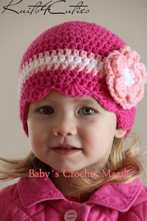 Gorras para niñas tejidas a crochet - Imagui  b8355e012cd