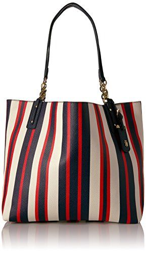 f4ac10eba1d Tommy Hilfiger Tote Bag for Women Gabby, Navy Multi     Click image for  more details.