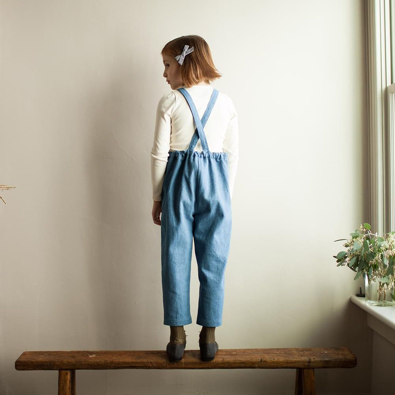 Millie Chambray Linen Dress Light blue
