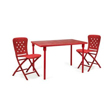 Zic Zac Spring Red Patio Set Furniture Outdoor Furniture Sets Folding Garden Table