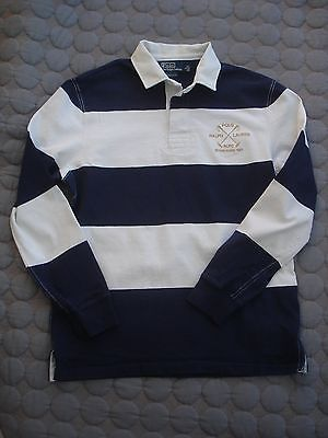 POLO BY RALPH LAUREN LONG SLEEVE RUGBY SHIRT BLUE/WHITE SIZE LARGE CUSTOM FIT https://t.co/NF9KMcFmMS https://t.co/SbAWzQ0Yw4