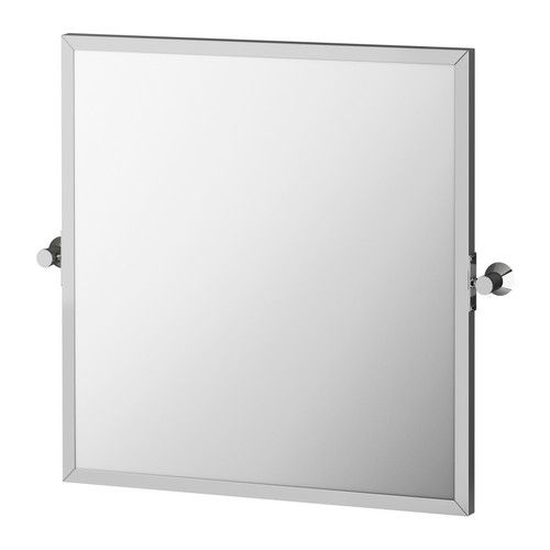 SÄVERN Spegel, rostfritt stål rostfritt stål 60x60 cm