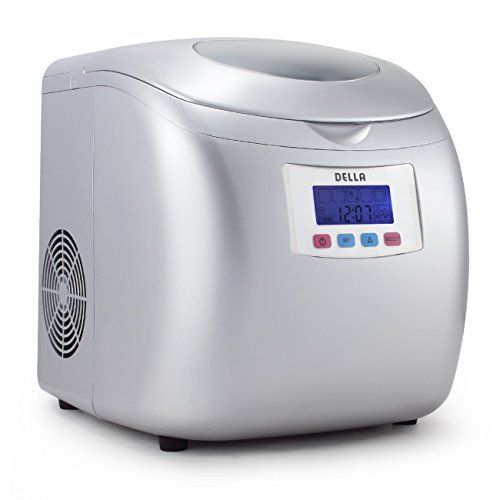 Della Deluxe Ice Maker Lcd Display Portable 3 Cube Sizes Color