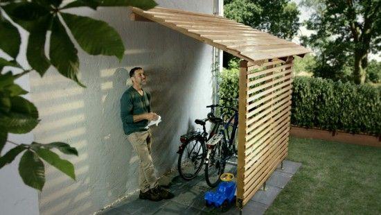 Fiets garage overkapping tuin ideeën garages