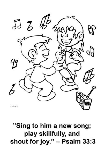 Gratis Kleurplaten Dansen.Psalm 33 Vers 3 Weest Verheugd Oude Testament Bijbel