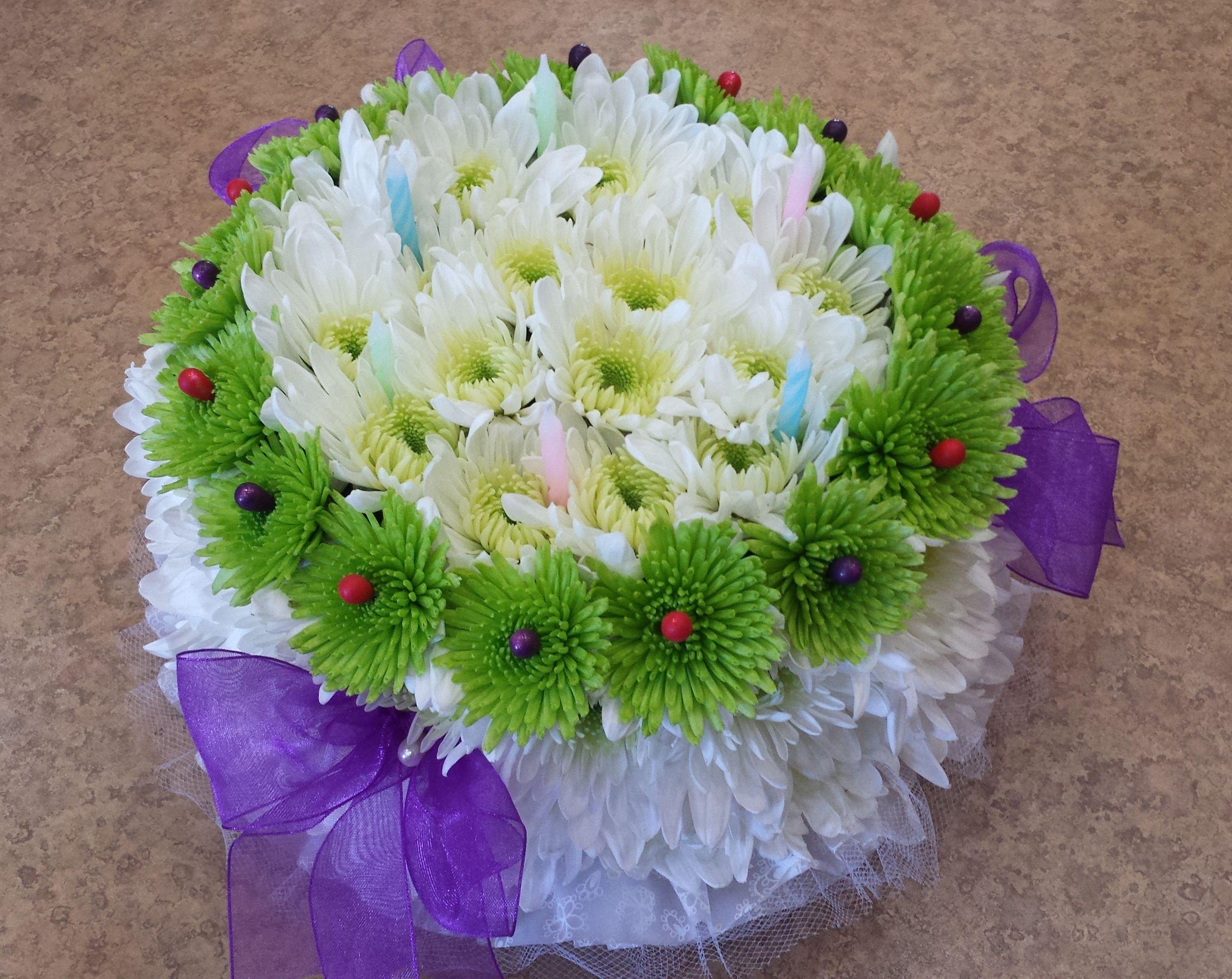 100Th Birthday Fresh Flowers Arrangement
